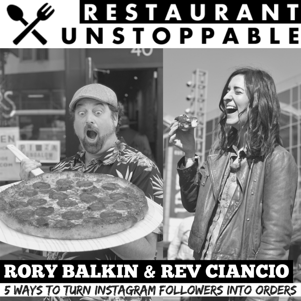 Rory Balking and Rev Ciancio Restaurant Unstoppable Podcast